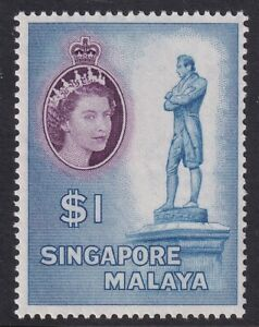 1955 SG50 $1 Unmounted mint (MNH). Very Fine.