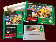 World Class Rugby SNES Super Nintendo Pal UK Version Tested & Working.