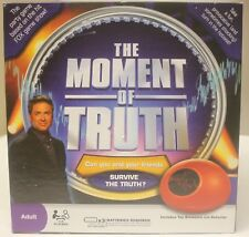 The Moment Of Truth Game Includes Toy Biometric Lie Detector - BRAND NEW IN BOX