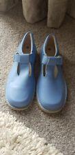 Girls Blue Flat Mary Jane Style Shoes Size 29 / 12