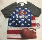 NFL Infant Toddlers Boys Flag Tee T-Shirt San Francisco 49ers NEW