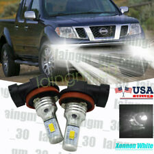Led Headlight Kit H11 6000K White Fog Light Bulbs for Nissan Frontier 1998-2019