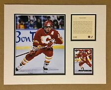 Calgary Flames THEOREN FLEURY 1994 NHL Hockey 11x14 MATTED Lithograph Print
