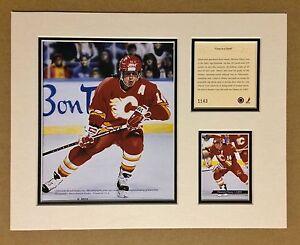 Calgary Flames THEOREN FLEURY 1994 Hockey 11x14 MATTED Kelly Russell Print