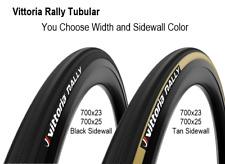 Vittoria Rally Tubular 700x23 Or 700x25 Black Or Tan 48mm Presta Bicycle Tire