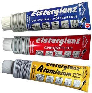 Elsterglanz  3er SET 150ml Chrom,Universal,Aluminium Politur, Paste