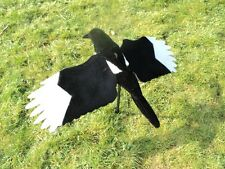 FLOCKED ULTIMATE MAGPIE DECOY FLYING WINGS SHOOTING NEW confidence bird for Pige