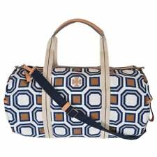 Brand New TORY BURCH Octagon Print Ivory Oversize Nylon Travel Bag, MSRP $348