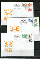 Briefmarken der DDR (1981-1990) auf Ersttagsbrief