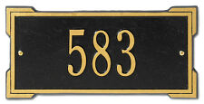 Whitehall Mini Roanoke Personalized Address Plaque Compact Sign in 17 Colors