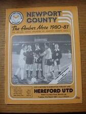 31/03/1981 Welsh Cup Semi-Final: Newport County v Hereford United  (folded)