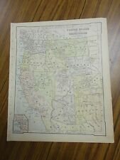 Nice color map of The Pacific States & Terr. Printed 1896 by American Book Co.
