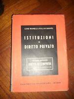 ISTITUZIONI DI DIRITTO PRIVATO Vol II - ANNO:1947 (ZX)
