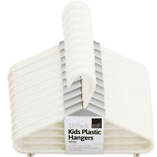 40 x BABY CHILDREN KIDS PLASTIC HANGERS CLOTHES CLOTH PLASTIC COAT HANGERS WHITE