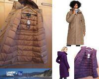 NWT Lands End Womens Hooded Commuter Long 600 Down Coat  XS 2-4 - Reg $249