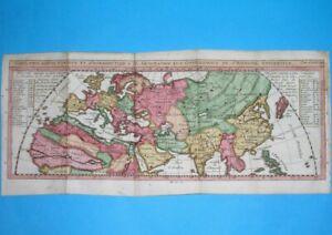 1725 NICE ORIGINAL MAP WORLD ASIA EUROPE POLAND RUSSIA CHINA KOREA THAILAND