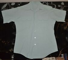 US Army Men's Dress Green Uniform Shirt Short Sleeve Size 15 1/2 Military GUC