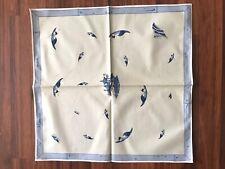 Set Of 12 Vintage Manuel Canovas Blue Chinoiserie Cotton Napkins