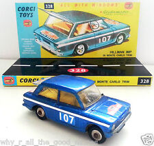 60s CORGI TOYS 251 > 328 HILLMAN IMP Monte Carlo Diecast Model & Custom Display