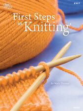 First Steps in Knitting Afghan Baby Clothes Scarf Slippers Knitting Pattern Book