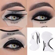 Eyeliner Stencil - Eyeshadow Guide, Smokey Cat, Quick Eye Makeup Tool Set