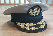 Kroatische Marine Admiral Schirmmütze mit Abzeichen Kroatien Ustasa Croatia