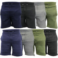 Mens Jogger Shorts Sweat Knee Length Gym Sports Casual Fleece Lined Summer New