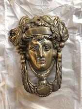Vintage Brass Head Door Knocker - 16cm x 12cm