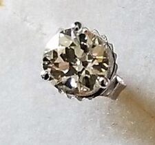0.64 TCW Diamond Martini Set Single Stud Earring 14K White Gold