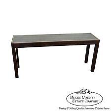Henredon Smoked Mirror Top Console Sofa Table