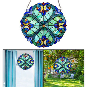 10inch Vintage Style Colorful Stained Acrylic Panel Suncatcher Window Ornament