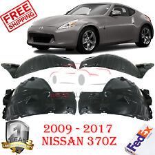 Front Fender Liners LH&RH Front & Rear Section For 2009-2017 Nissan 370Z 4 Pics