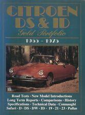CITROEN ID19 ID20 DS19 DS21 DS23 Saloon Safari 1955-1975 periodo di prove su strada LIBRO