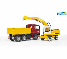 Bruder Toys 02751 Pro MAN TGA CONSTRUCTION TRUCK WITH LIEBHERR EXCAVATOR 1:16