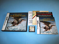 Final Fantasy: The 4 Heroes of Light Nintendo DS Lite w/Case Manual & Inserts