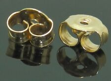 9ct Gold Butterfly Earring Backs Scrolls Push Fit 375 (5mm x 4mm) 1 x Pair (2)
