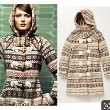 Anthropologie archival collection fairisle sweater coat Sparrow hoodie Small S