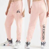 Nike Air Jordan Jumpman Classics Fleece Men Jogger Pants Pink BV6008 623 Medium
