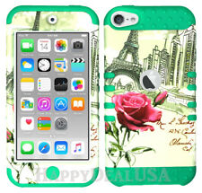For Apple iPod Touch iTouch 5 | 6 KoolKase Hybrid Cover Case - Eiffel Tower Rose