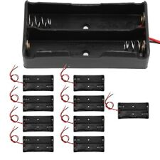 10pcs Dual Slot Battery Case Holder Storage Box Quality For 18650 Battery 3.7V