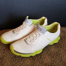$250 Ecco Biom Natural Motion Womens Golf Shoes White Leather EU 41 US SIZE 10