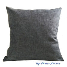 45cm x 45cm Home Decorative Solid Color Linen Look Cushion Cover-Charcoal