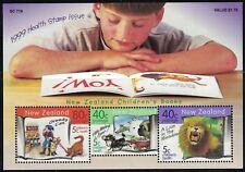 New Zealand Souv,Sht.-Children'sBooks-TheGreedyCat-ALionInTheMeadow MNH 1999