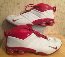 huge inventory 4007f d6676 Nike Shox Supremacy 2003 Zapatos Vince Blanco Varsity PR Rojo Tamaño 14