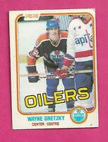 1981-82 OPC # 106 OILERS WAYNE GRETZKY VG CARD (INV# D1362)