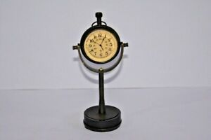 Maritime Brass Table Clock Antique Nautical Stand Hanging Desk Watch Home Decor