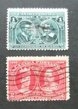 Canada-1906/1908-One & Two Cent Quebec Anniv-Used