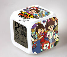 Réveil numerique Digital Yo kai watch Personnalise à effet lumineux Avec Prenom