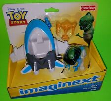Toy Story REX Figure with SPACESHIP Disney Pixar Fisher-Price Imaginext
