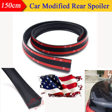 Flexible 4.9ft/1.5M Car Spoiler Trunk Roof Lip Wing Protector Rubber Universal
